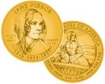 2010 Jane Pierce Commemorative 1/2 oz Gold $10 (Artist Rendering)