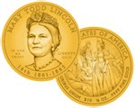 2010 Mary Todd Lincoln Commemorative 1/2 oz Gold $10 (Artist Rendering)
