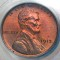 1913 Lincoln Cent Red