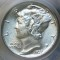 1937 Mercury Dime FB Full Bands