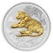 2010 P Australian Silver Tiger Series II Gilded Edition 1 ounce 1 Dollar