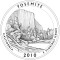 2010 Yosemite National Park, California Quarter Dollar (line art design)
