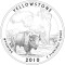 2010 Yellowstone National Park, Wyoming Quarter Dollar (line art design)