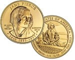 2010 W Jane Pierce Commemorative 1/2 oz Gold Uncirculated $10