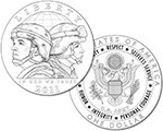 2011 US Army Silver Dollar (line art design)