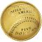 2014 W National Baseball Hall of Fame Commemorative Gold Five Dollar Proof