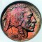 1938 D/D Buffalo Nickel Toned