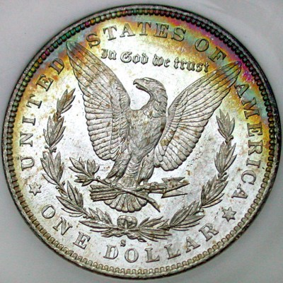 click for larger picture of 1879 S Morgan Dollar