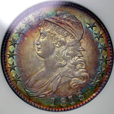 click for larger picture of 1818 Capped Bust Half Dollar