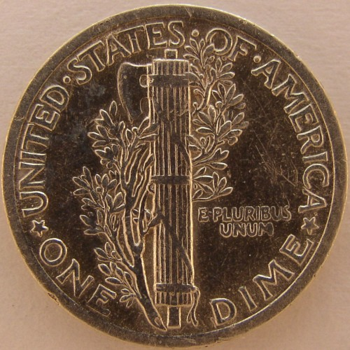 click for larger picture of 1923 Mercury Dime