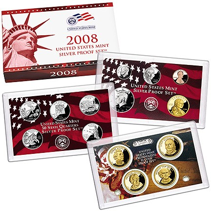 2008 S Silver Proof Set