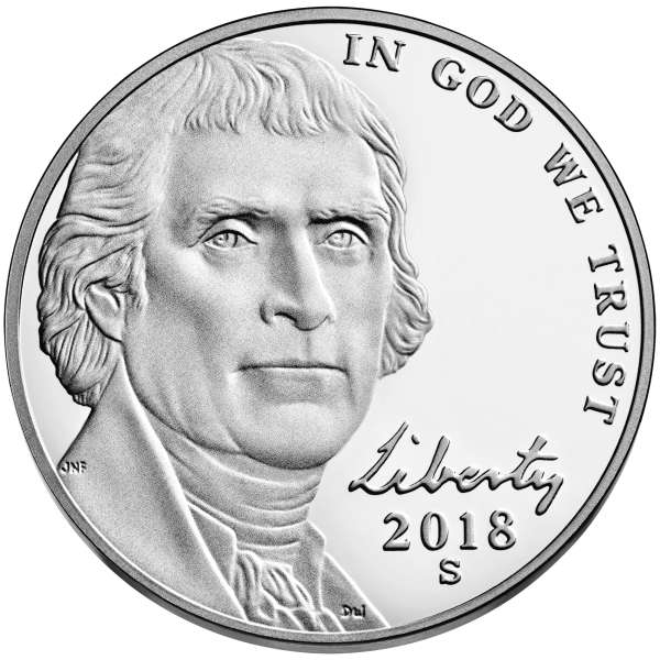 click for larger picture of 2018 S Jefferson Nickel Proof